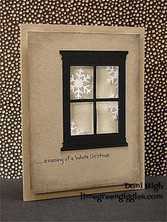 ......dreaming of a White Christmas by donidoodle - Cards and Paper Crafts at Splitcoaststampers