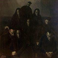 """""""Hjem fra begravelslen"""" (1937). Ett mäktigt konstverk av den färöiska målaren Sámal Joensen-Mikines. (Känns som jag satt modell, uppe till vänster, i ett tidigare liv)."""