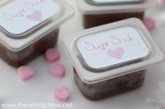 Homemade brown sugar scrub from iheartnaptime.net . Place in recycled jars and hand out as Valentine gifts!
