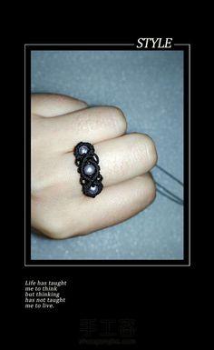 缀珠戒指 第1步