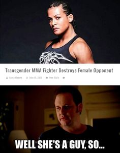 Does this mean men are better at women's MMA?