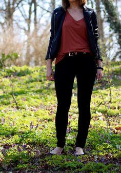 Lederjacke Outfit Frühlings Capsule