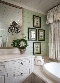 Love the horizontal boards on the walls - and the plank ceiling.