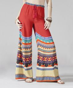 Take a look at this Burgundy Stripe Palazzo Pants by Flying Tomato on #zulily today!