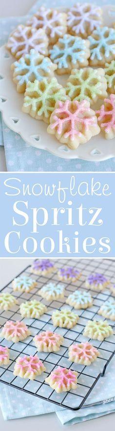Spritz Snowflake Cookies