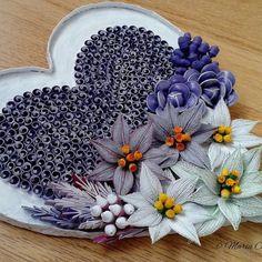 Finally I finished my winter heart #quillingheart #quillingart #quillingpaper #quillingflowers #poinsettia