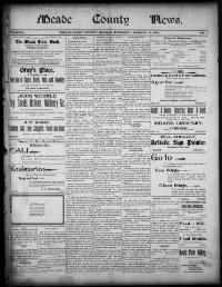 MEADE COUNTY - Meade, Kansas - 1900-1910 - Meade County News - « Chronicling America « Library of Congress