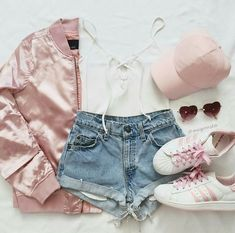 outfits with shorts Girls outfit ( Teenage Outfits, Teen Fashion Outfits, Mode Outfits, Cute Fashion, Outfits For Teens, Girl Outfits, Casual Teen Fashion, Fashion Pics, 90s Fashion