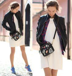 Get this look: http://lb.nu/look/8657251  More looks by Iva K: http://lb.nu/ivyk  Items in this look:  Mango Dress, Puma Sneakers, Zara Bag, Springfield Jacket   #casual #sporty #street #outfit #dress #mango #pumasneakers #sneakers #bag