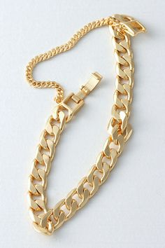 Bold Gold Chain Bracelet from kellinsilver.com