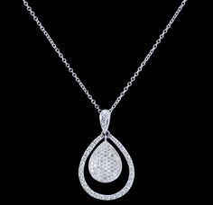 18k White Gold and Diamond Pendant from Sofer Jewelry  www.benolds.com