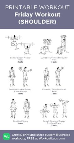 Friday Workout (SHOULDER): my visual 45min workout