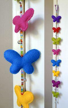 Felt butterflies  Beads