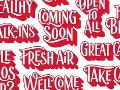 Lettering for Target clinics in southern California. Check out more of the project here.