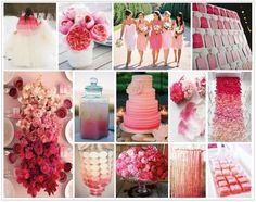 Ombre Wedding Styling - pink ombre wedding