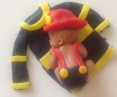 FIREFIGHTER BABY SHOWER Cake Topper First Birthday Party Fondant Cake Fireman…