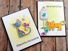 Not 2 Shabby Design Team Project | MFT Purr-fect Friends using Zig Clean Color Real Brish Markers - YouTube