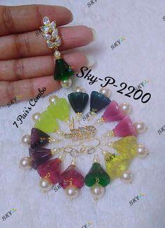 Jewelry Design Earrings, Gold Earrings, Gold Jewelry, Jewellery, Kutch Work Designs, Ear Drops, Kids Frocks, Hand Designs, Fashion Jewelry
