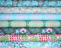 Cameo Fabric bundle by Amy Butler for Westminster Fabrics- Fat Quarter Bundle, 7 total