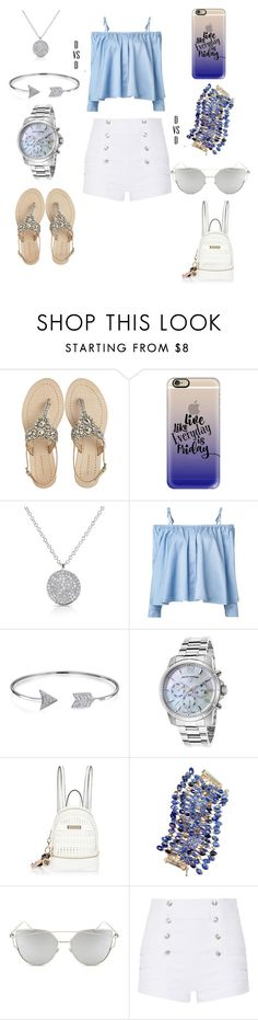 """""""Early Morning Saturday's"""" by danivsdaniella ❤ liked on Polyvore featuring Antik Batik, Casetify, Anne Sisteron, Sandy Liang, Bling Jewelry, Swiss Legend, River Island, Rosantica, Chicnova Fashion and Pierre Balmain"""
