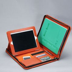 Zippered Genuine Leather Portfolio for iPad by LeatherPortfolio, $120.90