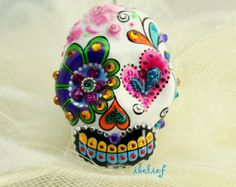 Skull black in love flower is the day of the dead by ibelief