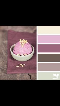 Pink grey ivory brown tones color schemes ice