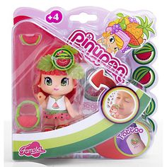 PINYPON FIGURE SCENTED WATER MELON GIRL WITH RED HAIR BRAND NEW IN BOX