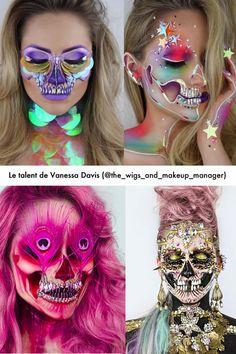 Prépare-toi à découvrir des têtes de mort comme tu ne les as jamais vues, avec ces maquillages captivants et glamours de l'artiste Vanessa Davis!