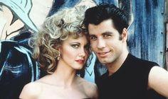 danny and sandy in grease by John Travolta and Olivia Newton-John