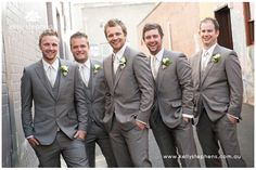 grey groomsmen suits - Google Search