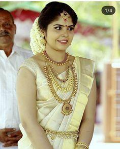 Kerala Bride South Indian Set Saree Kasavu