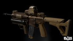 HK416 Assault Rifle, Hong Kim on ArtStation at https://www.artstation.com/artwork/w5EXw
