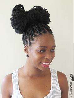 Box Braids Hairstyle - The Bow