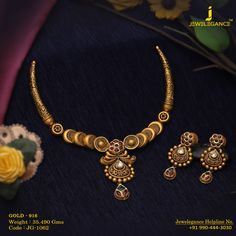 Gold 916 Premium Design Get in touch with us on Gold Bangles Design, Gold Jewellery Design, Gold Jewelry, Gold Necklaces, Trendy Jewelry, Handmade Jewellery, Statement Jewelry, Jewelery, Gold Mangalsutra Designs