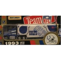 Indianapolis Colts NFL Diecast 1993 Matchbox Tractor Trailer Football Team Truck White Rose Collectible Car by NFL  $25.79
