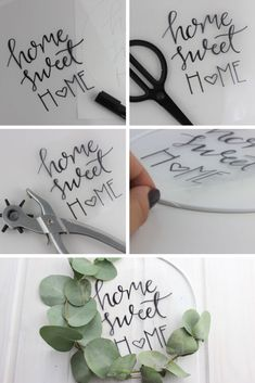 Step by step to DIY door wreath with lettering Step by step to DIY door wreath with Green Room Decor Ideas to create a quiet and relaxing space Lavender i. Poinsettia, Porte Diy, Upcycled Home Decor, Door Wreaths, Hand Lettering, Diy And Crafts, Sweet Home, Creations, About Me Blog