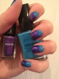 AMAZING #AVON: Nail Polish #Gradient Tutorial #Manicure Shop for Avon Nailwear Pro+ Nail Enamel  www.youravon.com/marinaflournoy