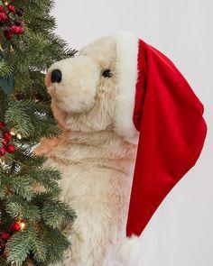 christmas celebration polar bear