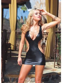 M XL Sexy Faux Leather Halter Mini Dress Women Gilt Lingerie Night Club Wear Pole Dancing Uniforms Costume Black Sexy Outfits, Cosplay Outfits, Fashionista Trends, Hot Dress, Dress Up, Bodycon Dress, Tight Dresses, Girls Dresses, Sleeveless Dresses