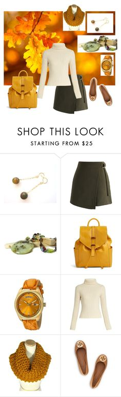 """Fall in Gold & Green"" by jillsjoyagol ❤ liked on Polyvore featuring Chicwish, Vera Bradley, Invicta, Ryan Roche and Tory Burch"