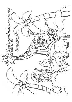creation coloring pages for preschoolers | Creation: Genesis 1:1-18 ...