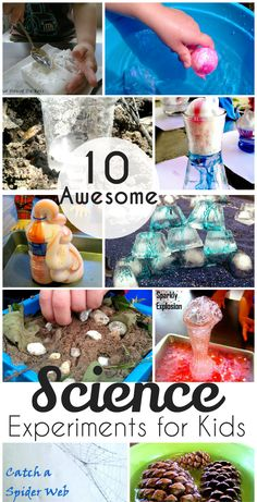 10 awesome and easy science experiments for kids - You can easily try these with your preschooler at home, so fun!