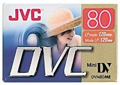JVC Mdv80Du 80-Minute Mini Digital Video Tape by JVC. $6.95. This Mini DV tape provides ultimate performance for highly reliable digital recording.. Save 57% Off!