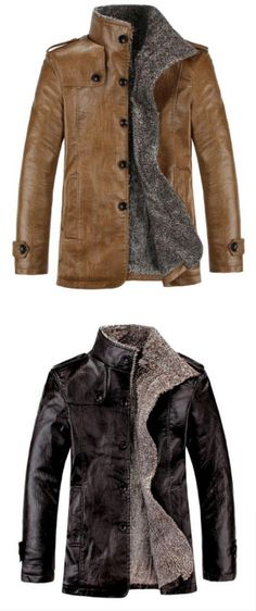8aaccff642e   27.19  Men s Daily Basic Fall   Winter Plus Size Regular Jacket