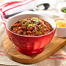 GOYA's Red Bean Chili is the perfect Valentine's Day dish and is spiced with a fragrant blend of chili powder and cumin. A perfect combo for you and that special someone.
