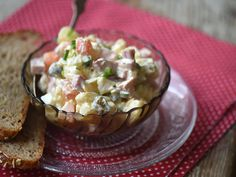 Orosz hússaláta My Recipes, Guacamole, Potato Salad, Pork, Food And Drink, Mexican, Potatoes, Cooking, Ethnic Recipes