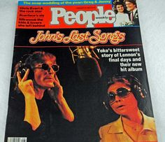 Beatles Fans! John Lennon Fans! John Lennon's Last Song, John and Yoko, People Magazine 1984 #17