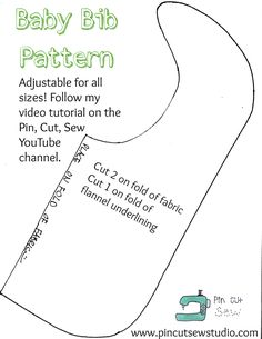 Great Free sewing baby bibs Strategies How to sew a baby bib (a beginner friendly tutorial) — Pin, Cut, Sew Diy Baby Bibs Pattern, Baby Bibs Patterns, Bib Pattern, Sewing Patterns Free, Sewing Tutorials, Sewing Ideas, Free Pattern, Clothes Patterns, Free Sewing