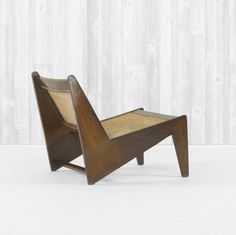 Pierre Jeanneret, Caned Lounge Chair, c1960.